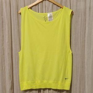 Nike neon yellow workout shirt
